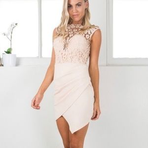 Showpo beige formal dress